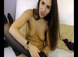sexy brunette swept off one's feet nylon feet and fuck ass