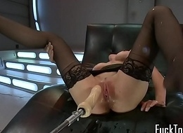 Squirting milf playing her pussy passionately