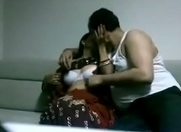 Indian desi wife in saree going to bed Husband in diggings