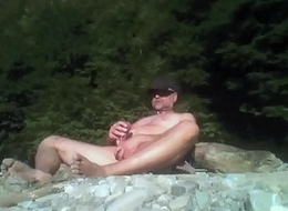 public cum in the canyon