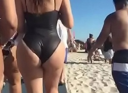 Beamy Butt Latinas at the Beach in Swimsuits (Perv Patrol 10.19.17)