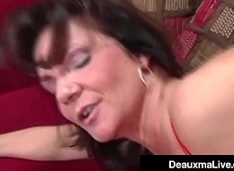 Busty Cougar Deauxma Fucks The Saddle with Man Here Her House! Oho!