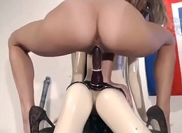 Horny rides rubber toy live undertaking