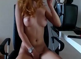 Nice tits chick fingering pussy on webcam