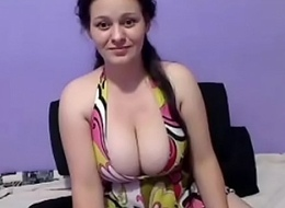 Hot girl displays huge tits brook on webcam