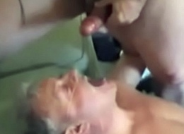 Cum drinking dad