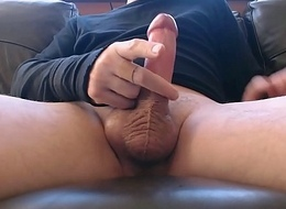 My solo 80 (Spurting ejaculation from most assuredly horny stiff cock)