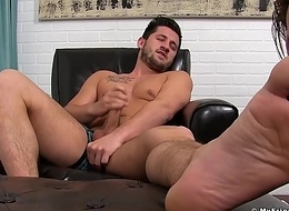 Alex Gray has his feet licked by his defied boyfriend