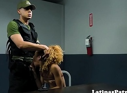 Real latina cockriding immigration officer