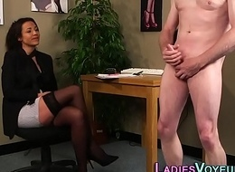 Cfnm babe watches loser