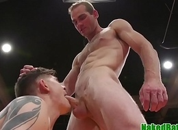 Wrestling stud punished and throatfucked